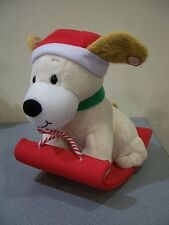 Christmas Decor Hallmark Jingle Pals Singing Barking Brown Dog Sled Plush