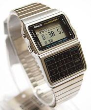 CASIO DBC-611-1 Databank Calculator Silver Watch Stainless Steel 100% Original