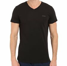 Diesel Men's V-Neck 100% Cotton T-Shirt - Small