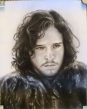 Game of Thrones Jon Snow ART CHARCOAL DRAWING 8X10""