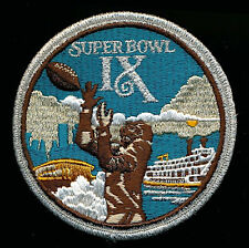 SUPER BOWL 9  STEELERS / VIKINGS Willabee & Ward OFFICIAL NFL SB IX ~ PATCH ONLY