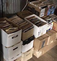 "Lot of 50 Random 45 rpm Vintage 7"" Vinyl Records Jukebox Rock Pop Country Soul"