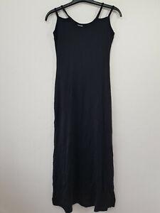 BHATTI Bodycon Maxi Dress Size 8-10 Black Stretch Strappy Sleeveless Evening