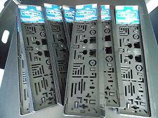 2 Kennzeichenhalter Nummernschildhalter Edelstahl Optik gebürstet brushed Set