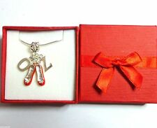 Dorothy's Ruby Slippers Wizard OZ Pendant Necklace Boxed Christmas Birthday Gift