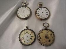 *MH373* Lot 4 antike Taschenuhren aus Silber defekt für Bastler