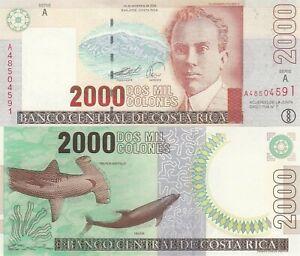 Costa Rica 2000 Colones (14.9.2005) - Shark/Dolphin/p265e UNC