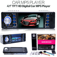 4.1'' SINGLE DIN IN DASH CAR STEREO FM/AM RADIO MP3 MP5 PLAYER iPOD AUX USB SD