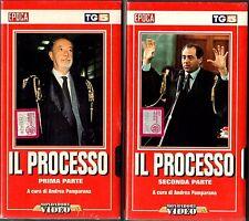 Il Processo (1994)  2 VHS Mondadori Video  Andrea Pamparana  Di Pietro - NEW