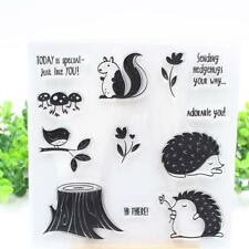 Hedgehog DIY Silicone Rubber Clear Stamp Seal Scrapbooking Diary Photo Card Deco