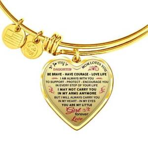 Mom And Daughter Gifts - To My Daughter Novelty Luxury Bangle From Mother Mommy