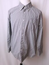 Tommy Hilfiger Mens Custom Fit Casual Shirt Long Sleeve Plaid Blue Check Large