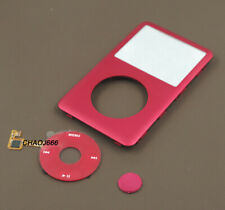 red front faceplate housing clickwheel button fr ipod 6th 7th classic 80gb 160gb