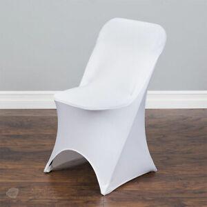 100 pc White Spandex Folding Chair Covers Wedding Reception qx