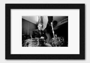 Buddy Rich - Legendary Drummer Print Black Frame White A3 (29.7x42cm)