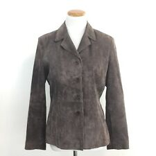 Outfit Petite JPR Leather Womens Sz 8P Brown Suede Leather Jacket Machine Wash