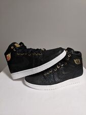 Nike Air Jordan 1 Pinnacle Black/Metallic Gold Basketball Shoe Size 8.5 Men's