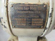 Vintage Washing Machine AC Electric Motor White Lily MFG Davenport Iowa Emerson
