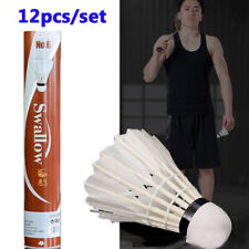 12PCs/Set Training Feather Shuttlecocks Birdies Badminton Ball Game Sports