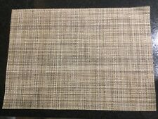 New listing Set Of Two Light Brown Pvc Placemats