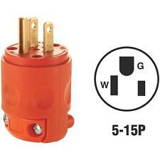 Leviton 15A Orange Grd Cord Plug