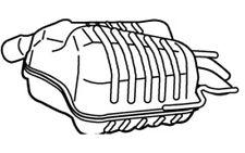 WALKER Silencioso posterior SAAB 9-3 23037