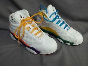 "NIKE Air Jordan 13 Retro KSA (PS) ""Playground"" Size 2.5Y White/Black CV0808-158"