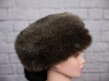 Dennis Basso Faux Fur Hat Russian Style Cossack Beige Ladies