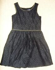 GAP BLACK LACE KNEE LENGTH DRESS SIZE AGE 6-7 YEARS