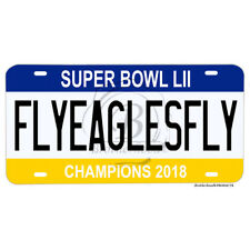 Super Bowl LII Champions 2018 Philadelphia Eagles Fly Eagles Fly License Plate