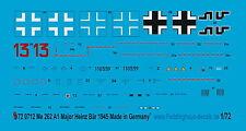 Peddinghaus 1/72 0712 Stickers pour Me 262 Maj Ours Ejg 2 März 1945