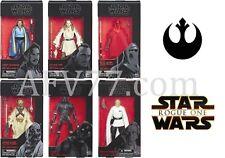 "Hasbro Star Wars BLACK Wave 11 6"" SET ROYAL GUARD Qui-Gon LANDO Tusken Raider"
