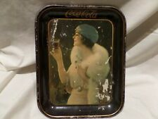 """VINTAGE"" COCA-COLA ""1925"" METAL SERVING TRAY ""FLAPPER GIRL"""
