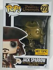 Funko POP EXCLUSIVE Gold Jack Sparrow #273 Pirates Of the Carribean POTC Figure