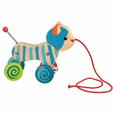 Egmont Toys Nachziehtier Holz Katze Ziehtier Nachzieh Spielzeug ab 1 Jahr