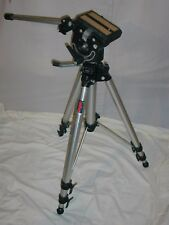 "Manfrotto Bogen 3033 / 3030 tripod heavy duty 3066 head approx. 74 "" tall"
