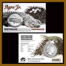 "Australia 1 Dollar Silver Coin, 1oz 2015 ""Agro Jr"" Saltwater Crocodiles Blister"
