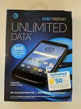 NEW / SEALED Motorola Moto E5 Play XT1921-2 16GB Smartphone Black (AT&T Prepaid)