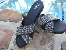 NWT REBA CROSS BAND BEADED SLIDES SANDALS NELL SIZE 9.5
