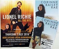 3 X CORINNE BAILEY RAE 2016 TOUR FLYERS - LIONEL RICHIE