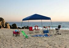 Sportcraft Instant Canopy 10x10' Slanted Legs Blue Shade Cover Yard BBQ Tailgate