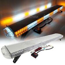 "53"" Amber White 108 Led Strobe Light Bar Emergency Beacon Warning Safety Signal"