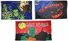3x5 Happy Halloween 3 Pack Flag Wholesale Set #3 Combo 3'x5' Banner Grommets
