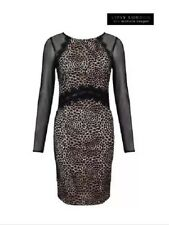 BNWT❤️Michelle At Lipsy❤️ Size 10 Black Beige Sheer Sleeves Lace Dress New