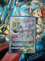 Pokemon Mewtwo & Mew Ultra Rare GX Regular Unified Minds 71/236 Tag Team Englisc
