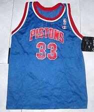 Maglia NBA DETROIT PISTONS # 33 GRANT HILL No Matchworn Champions Taglia S