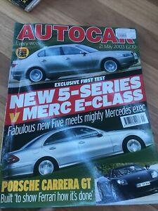 Autocar Car magazine MAY 2003 DB9 M5 RX300 EVO S80 CUPRA 5 SERIES E CLASS ZT385