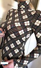 NEU! 474€ Jean Paul Gaultier slim fit Bluse Rollkragen Top Shirt S M 36 Muster