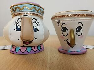 Rare Primark Disney Chip Mrs Potts teapot and cup zip coin set. (Sold Out)