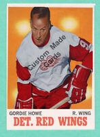 Custom made OPC 1970-71 Detroit Red wings Gordie Howe hockey card white